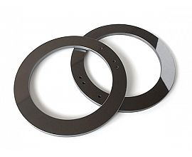 Polished silicon carbide rings with holes